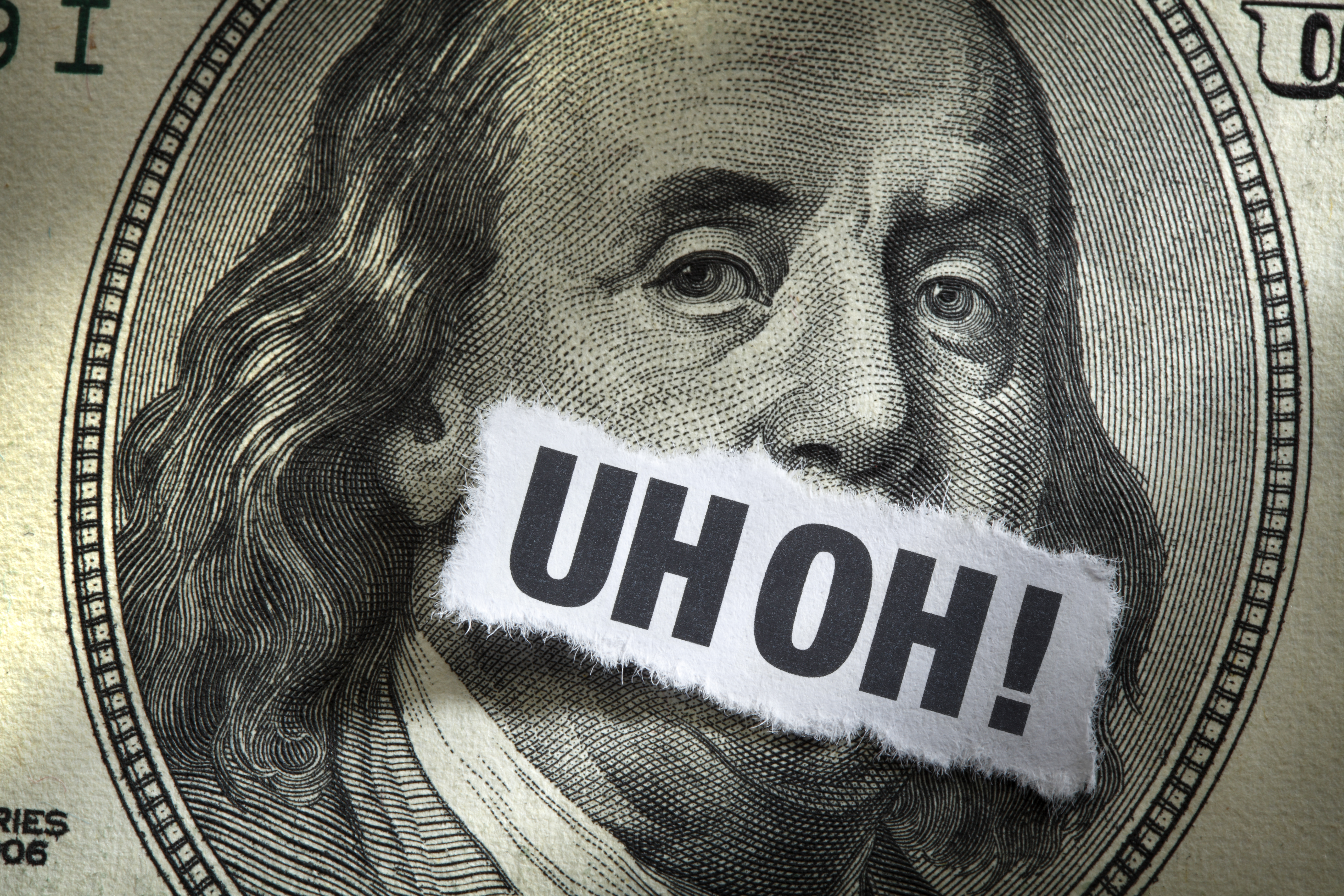 Hvbvyeiasbwxqwkrb9gn+ben_franklin_on_money_with_uh_oh_sticker_covering_his_mouth